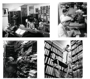 صور ملتقطة من الصفحة الرئيسية للموقع الإلكتروني للأرشيف الصهيوني